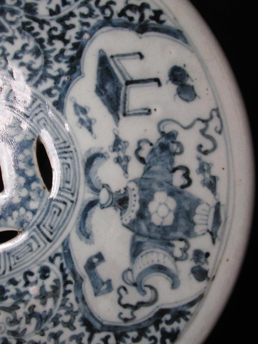 CHINESE QING DYNASTY BLUE & WHITE GARDEN STOOL - 7