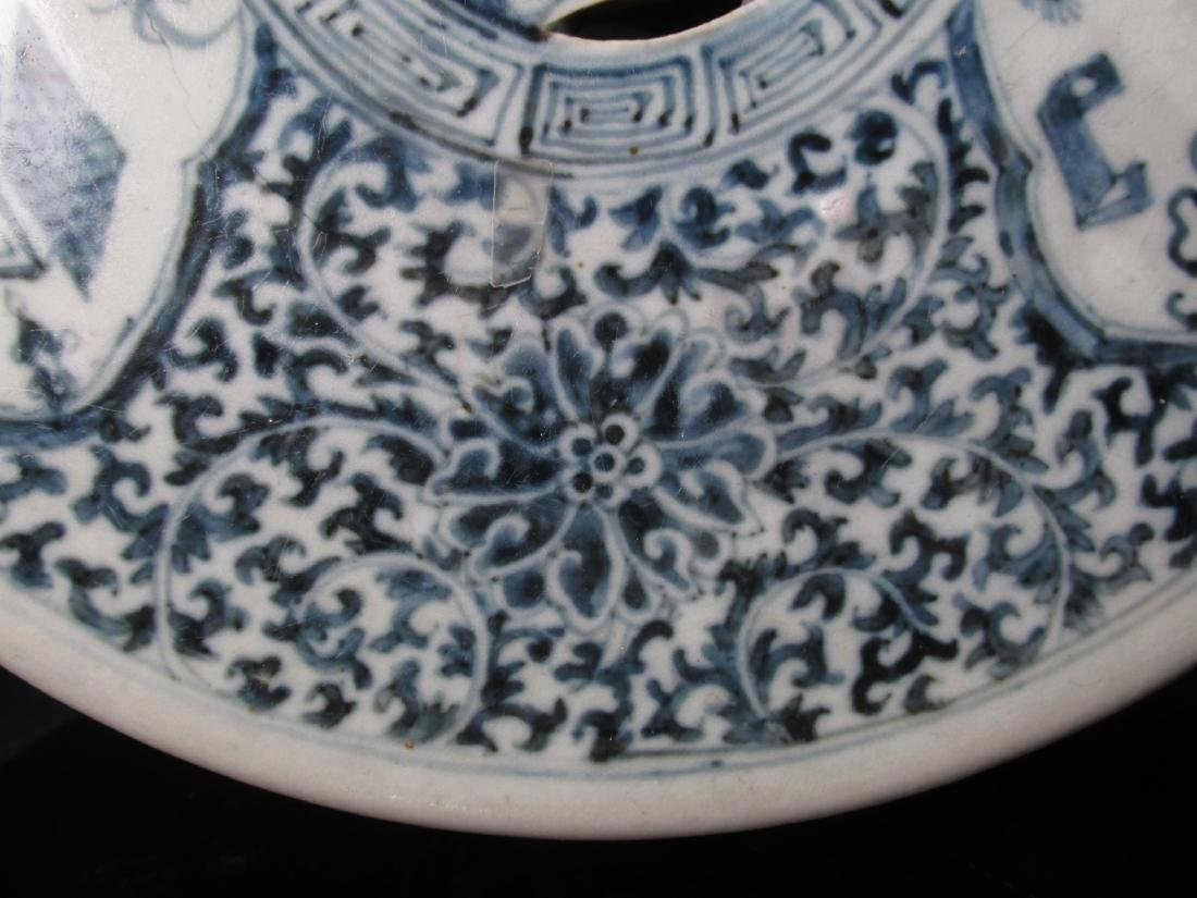 CHINESE QING DYNASTY BLUE & WHITE GARDEN STOOL - 8