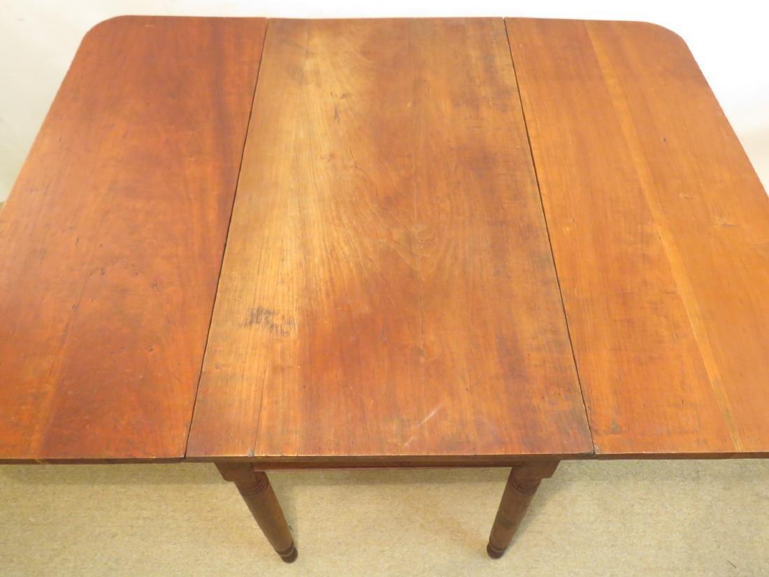 ANTIQUE CHERRYWOOD DROP LEAF TABLE - 2