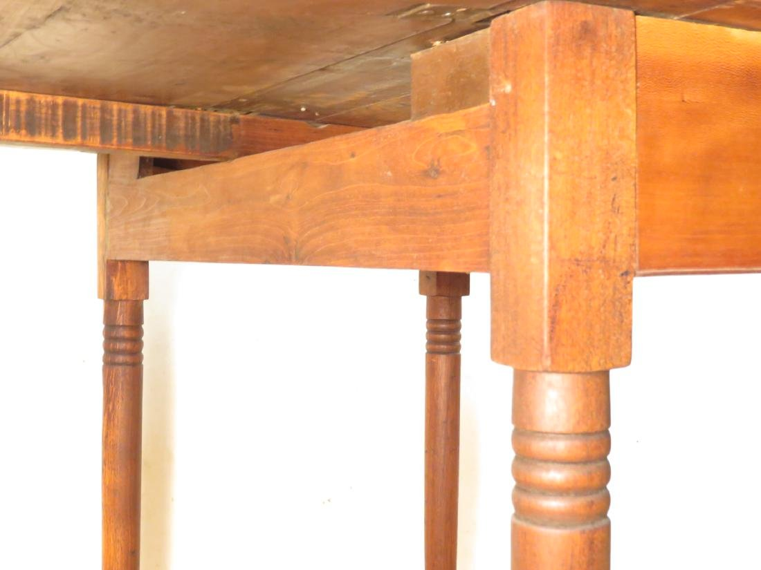 ANTIQUE CHERRYWOOD DROP LEAF TABLE - 3