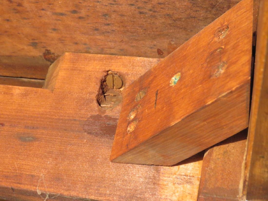 ANTIQUE CHERRYWOOD DROP LEAF TABLE - 6