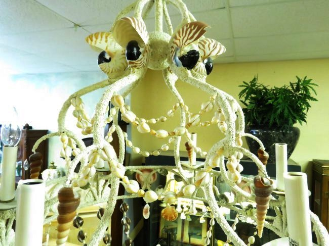 LARGE BEACHY NATURAL SHELL CHANDELIER - 4