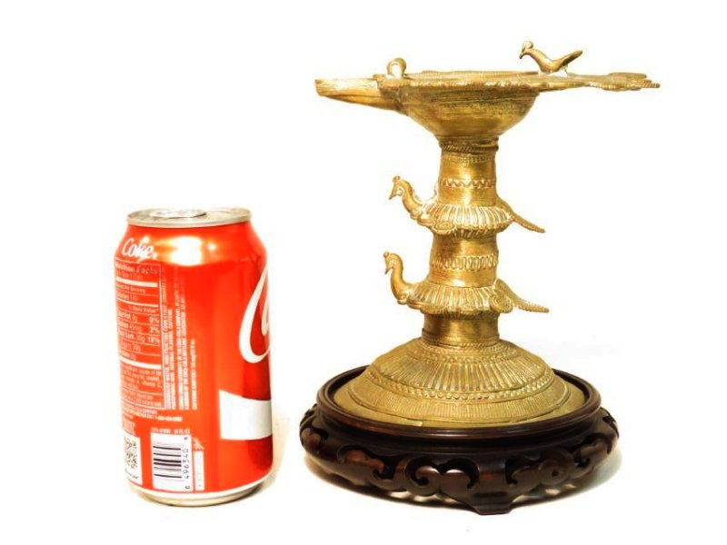 ANTIQUE AFRICAN CAST BRONZE & WIRE CEREMONIAL CUP - 5