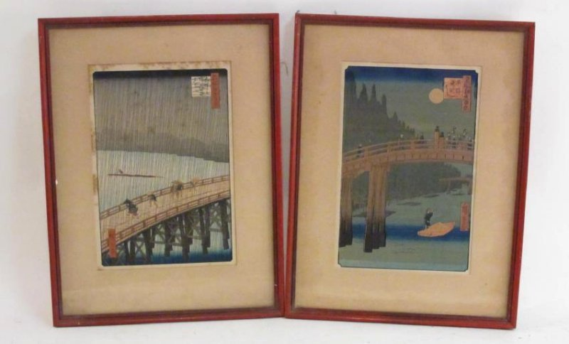 TWO ANTIQUE JAPANESE WOODBLOCK PRINTS