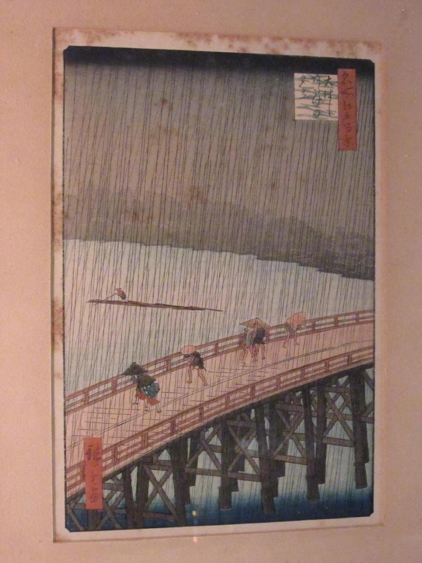 TWO ANTIQUE JAPANESE WOODBLOCK PRINTS - 7