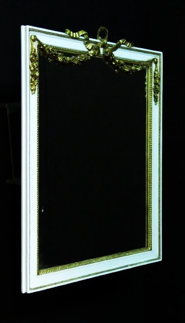 ANTIQUE LOUIS XV STYLE GILTWOOD WALL MIRROR