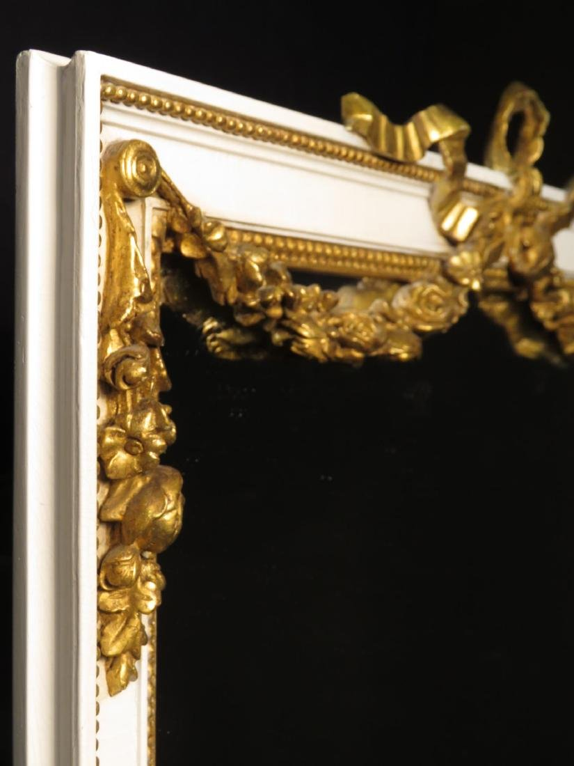 ANTIQUE LOUIS XV STYLE GILTWOOD WALL MIRROR - 3
