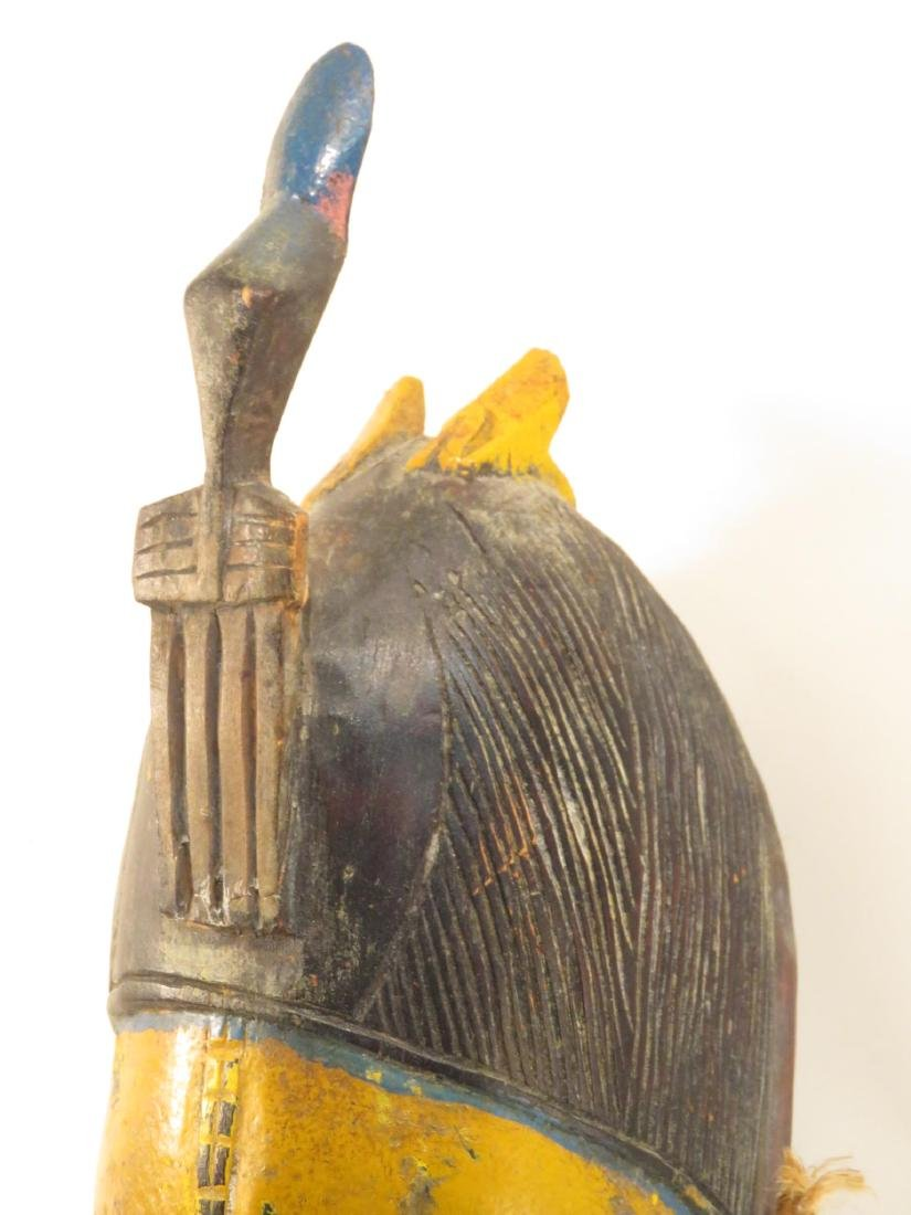 FOUR AFRICAN MASKS: ONE ON STAND - 10