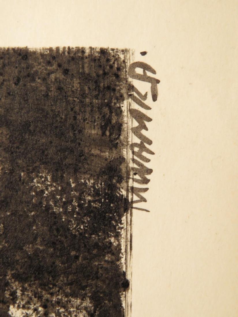 SIX UNFRAMED WORKS OF ART: PAINTINGS, ENGRAVING - 7