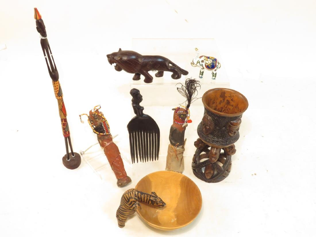 ASSORTED CONGO AFRICAN DECORATIVES ETC.