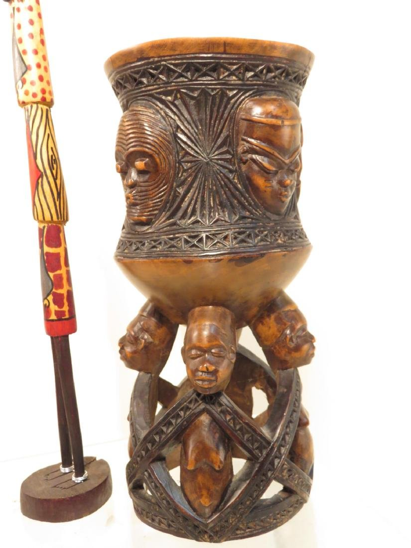 ASSORTED CONGO AFRICAN DECORATIVES ETC. - 7