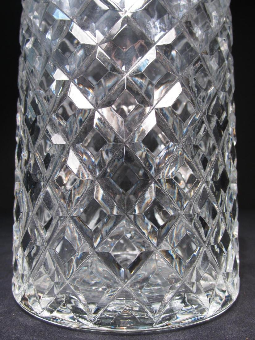FIVE FRENCH CRISTAL D'ALBRET CUT CRYSTAL DECANTERS - 4