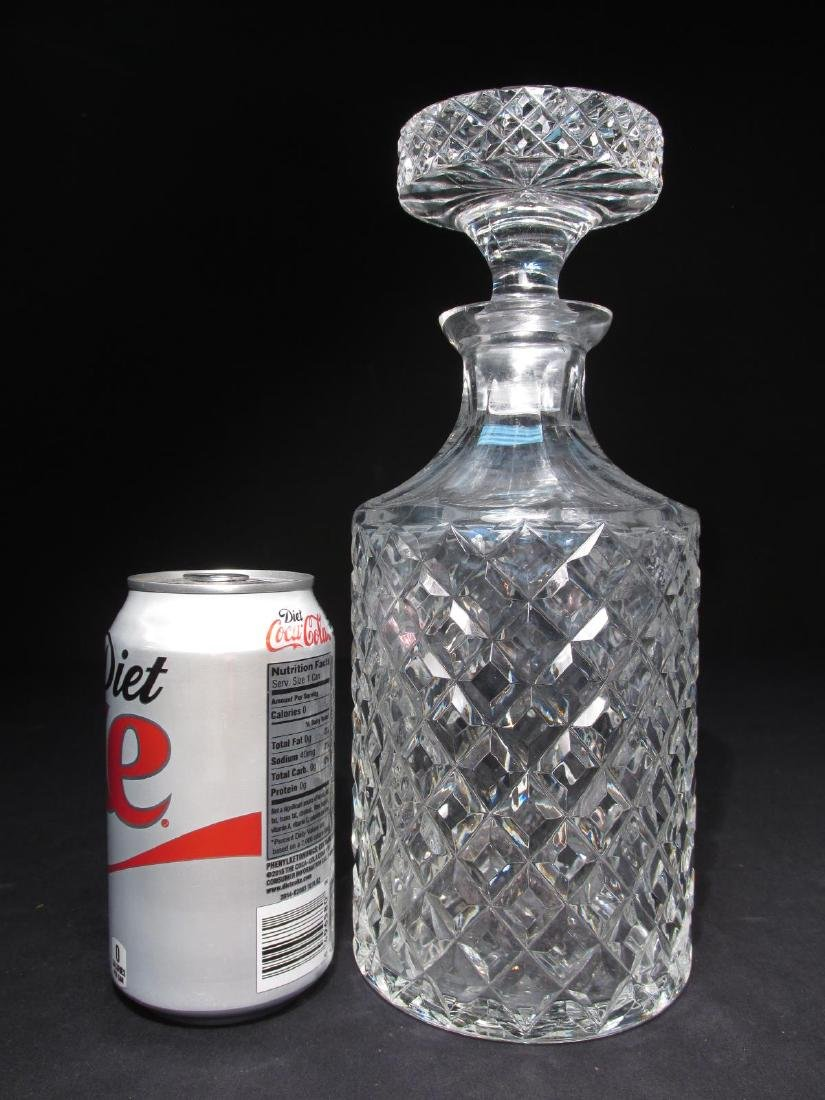 FIVE FRENCH CRISTAL D'ALBRET CUT CRYSTAL DECANTERS - 5