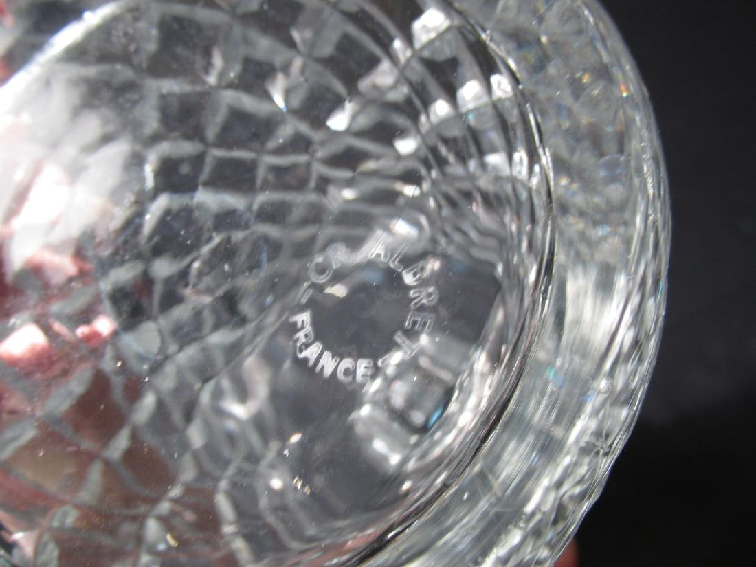 FIVE FRENCH CRISTAL D'ALBRET CUT CRYSTAL DECANTERS - 6