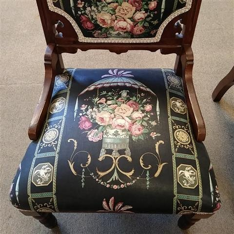 EASTLAKE VICTORIAN CARVED WOOD SETTE & SIDE CHAIR - 3