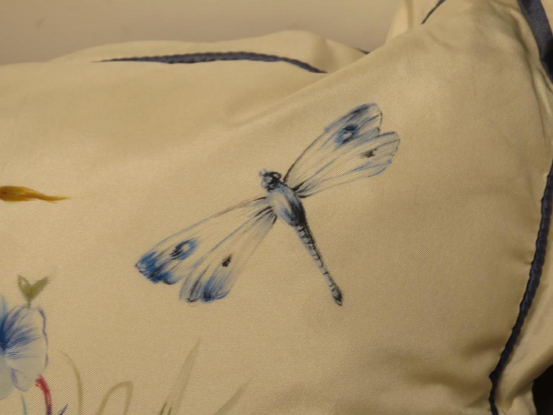 PAIR SHANTELLE STUDIO HAND PAINTED SILK PILLOWS - 5