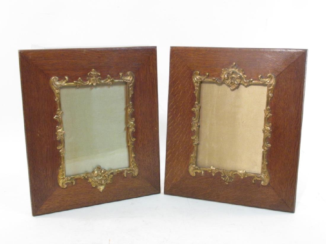PAIR ENGLISH ENCINO WOOD PICTURE FRAMES