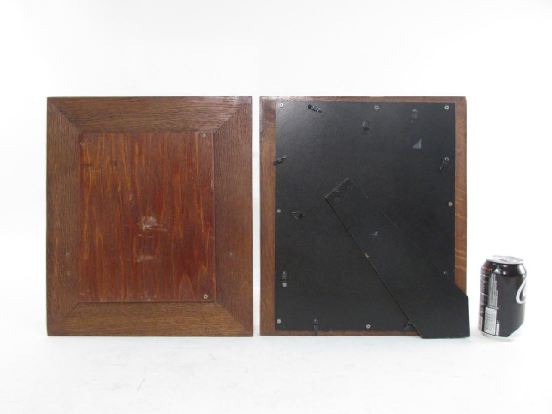 PAIR ENGLISH ENCINO WOOD PICTURE FRAMES - 5