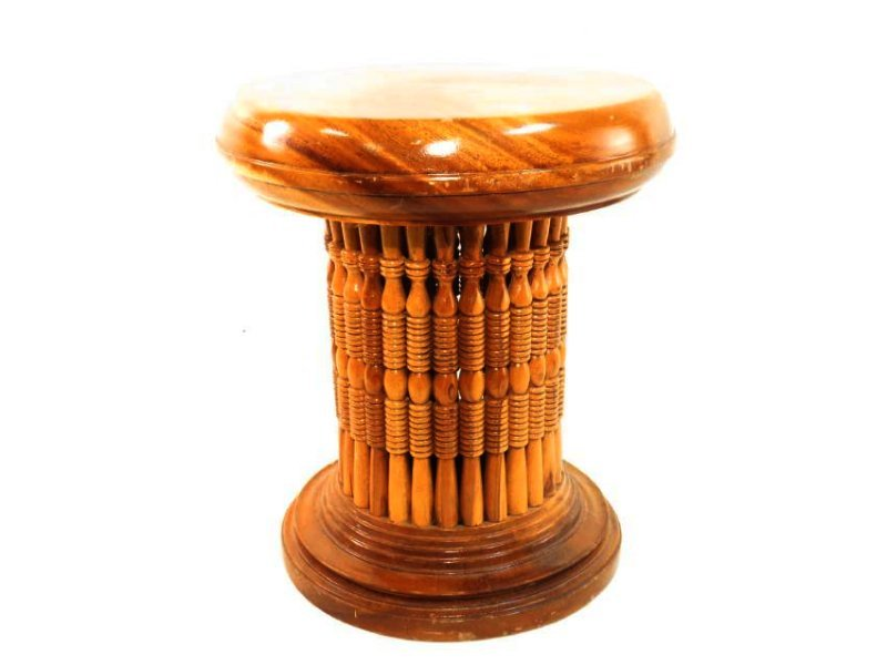 ASSEMBLED TURNED WOOD SPINDLE PEDESTAL