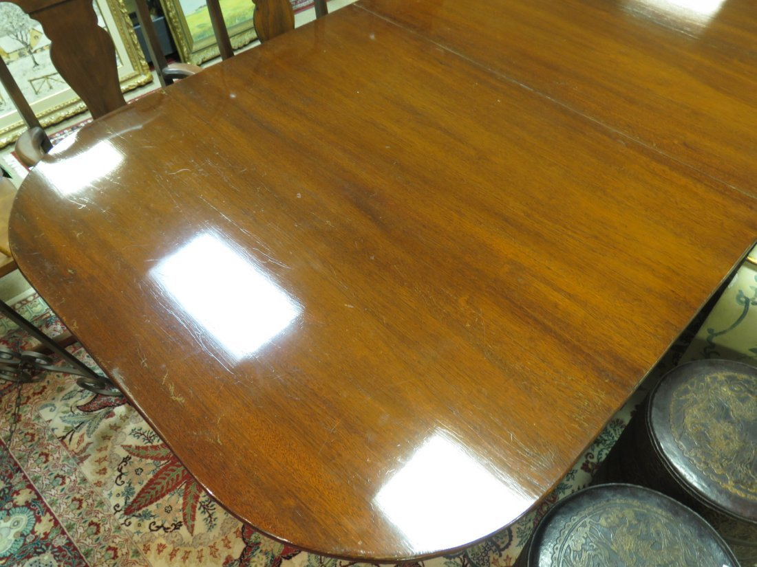 EARLY 20TH C DUNCAN PHYFE STYLE DINING TABLE - 10