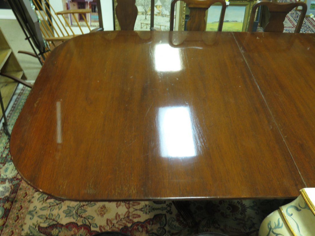 EARLY 20TH C DUNCAN PHYFE STYLE DINING TABLE - 11