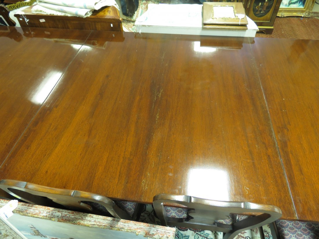 EARLY 20TH C DUNCAN PHYFE STYLE DINING TABLE - 7