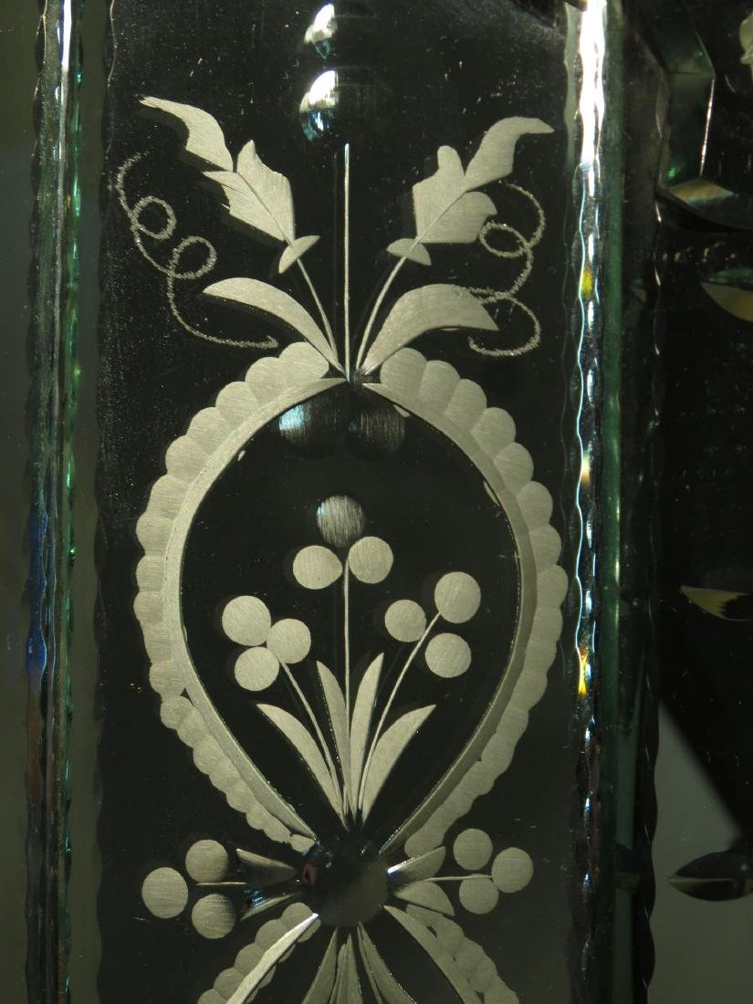 LARGE VENETIAN ENGRAVED GLASS MIRROR - 5