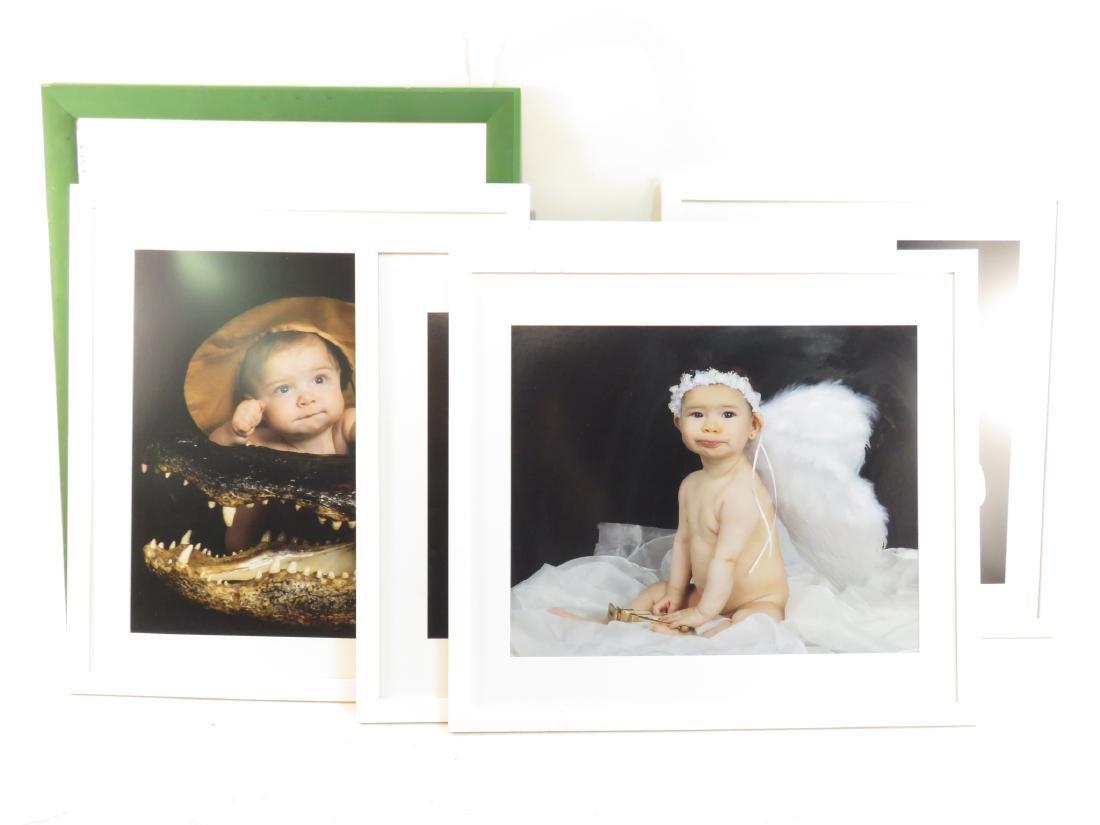 EIGHT ART PHOTOGRAPHS of BABIES FRAMED