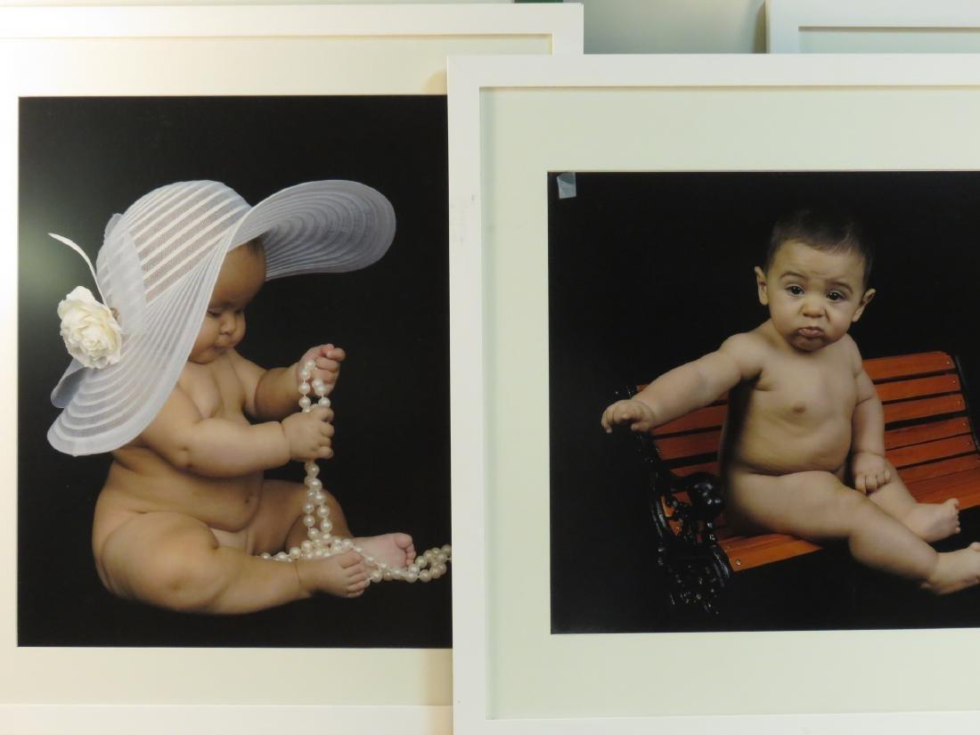 EIGHT ART PHOTOGRAPHS of BABIES FRAMED - 3