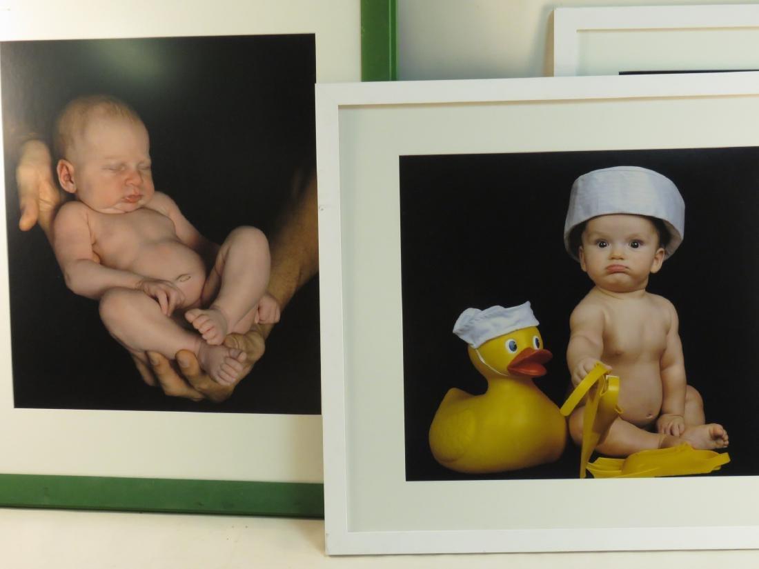 EIGHT ART PHOTOGRAPHS of BABIES FRAMED - 4