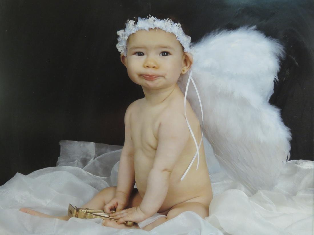 EIGHT ART PHOTOGRAPHS of BABIES FRAMED - 8