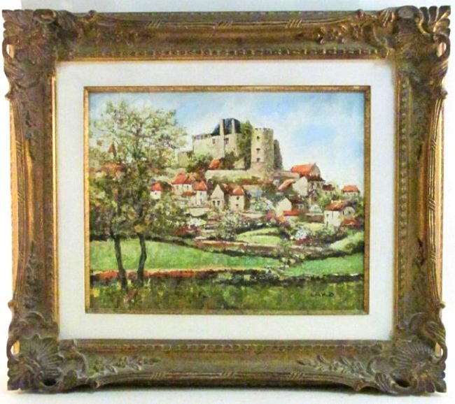 LOUIS PEYRAT FRAMED OIL ON CANVAS PAINTING