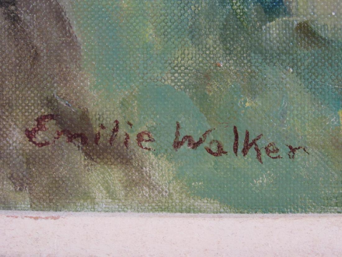 VINTAGE EMILIE WALKER ACRYLIC ON CANVAS PAINTING - 7
