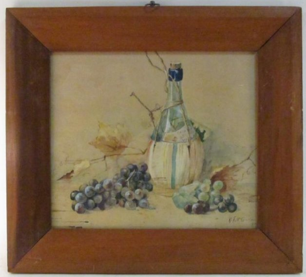ANTIQUE WATERCOLOR STILL LIFE PAINTING