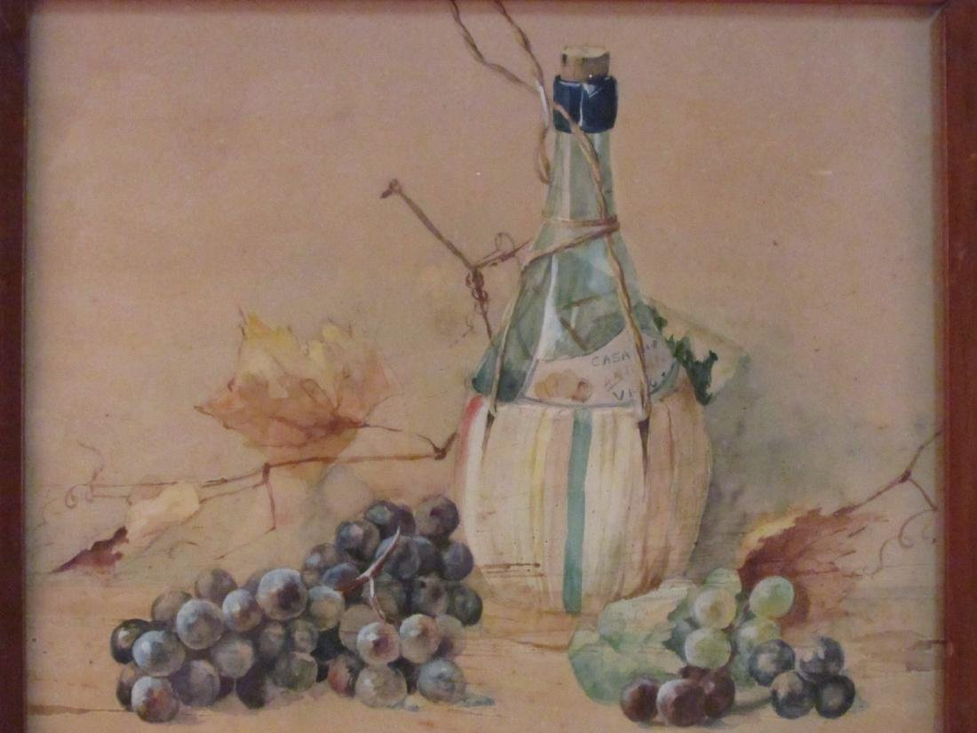 ANTIQUE WATERCOLOR STILL LIFE PAINTING - 2
