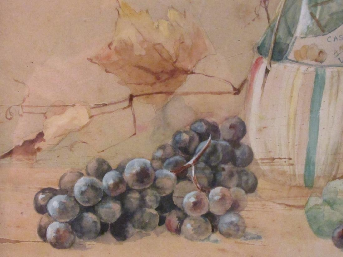 ANTIQUE WATERCOLOR STILL LIFE PAINTING - 3