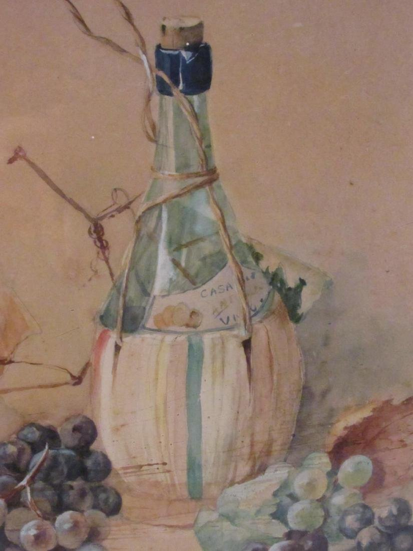 ANTIQUE WATERCOLOR STILL LIFE PAINTING - 4