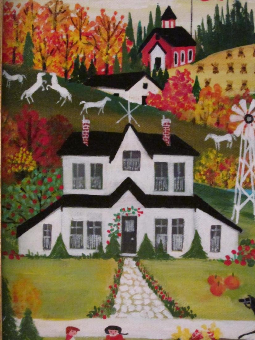 BARBARA DOWNTAIN NAIVE OIL ON CANVAS PAINTING - 4
