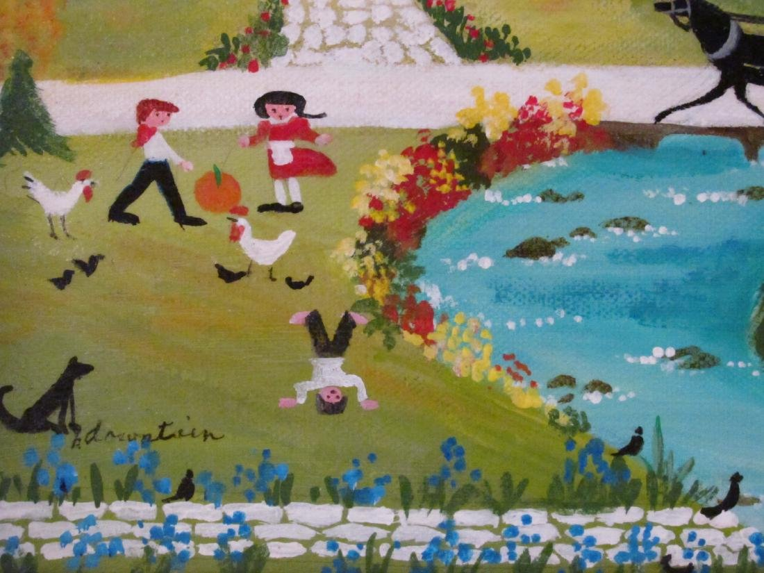BARBARA DOWNTAIN NAIVE OIL ON CANVAS PAINTING - 5