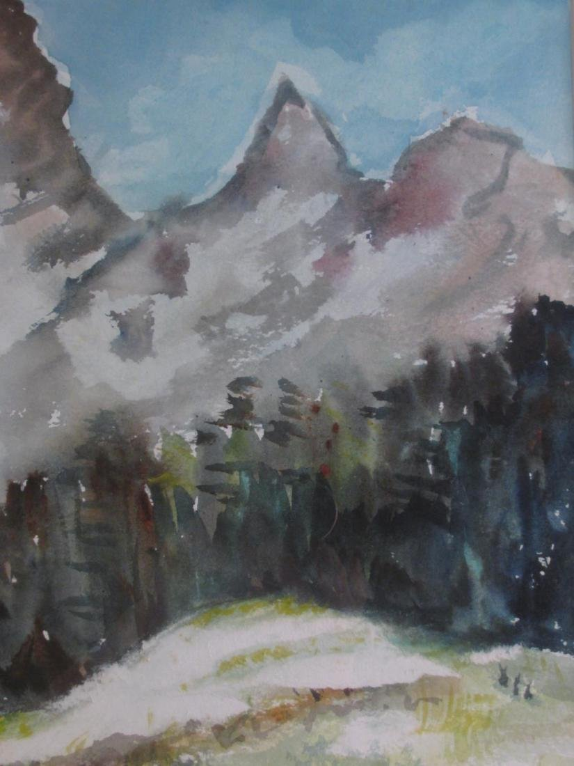 MARY PASSAILAIGUE WATERCOLOR PAINTING: ALPINE MEAD - 3