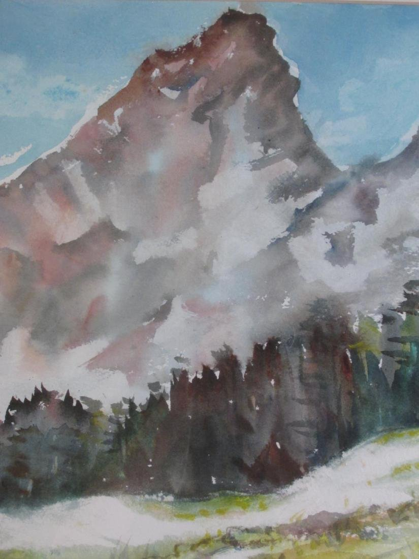 MARY PASSAILAIGUE WATERCOLOR PAINTING: ALPINE MEAD - 4