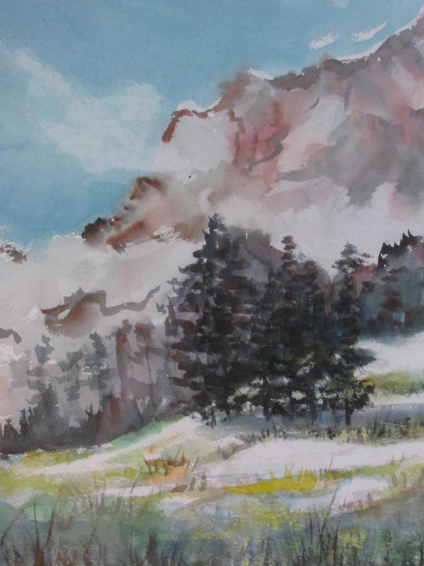MARY PASSAILAIGUE WATERCOLOR PAINTING: ALPINE MEAD - 5
