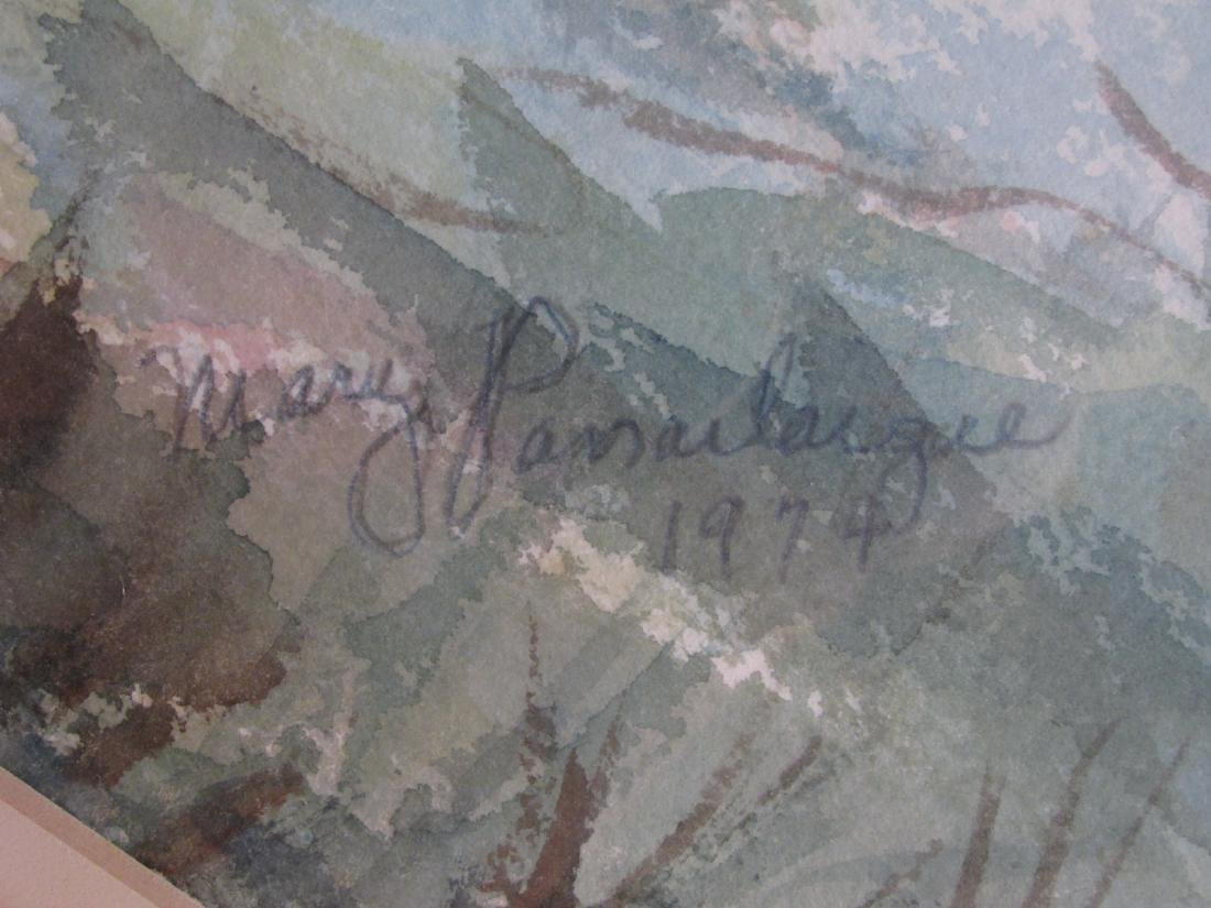 MARY PASSAILAIGUE WATERCOLOR PAINTING: ALPINE MEAD - 6
