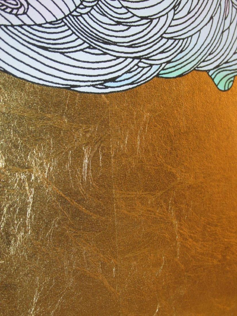 FRAMED GUILLAUME AZOULAY GOLD LEAF SILKSCREEN - 10