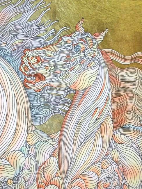 FRAMED GUILLAUME AZOULAY GOLD LEAF SILKSCREEN - 2