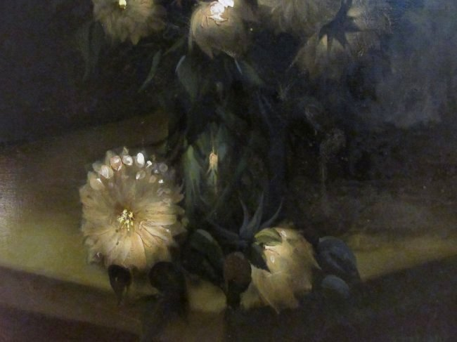 LARGE MID CENTURY OIL ON CANVAS FLORAL PAINTING - 5