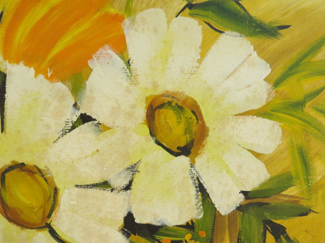 MID CENTURY FLORAL OIL PAINTING - 3