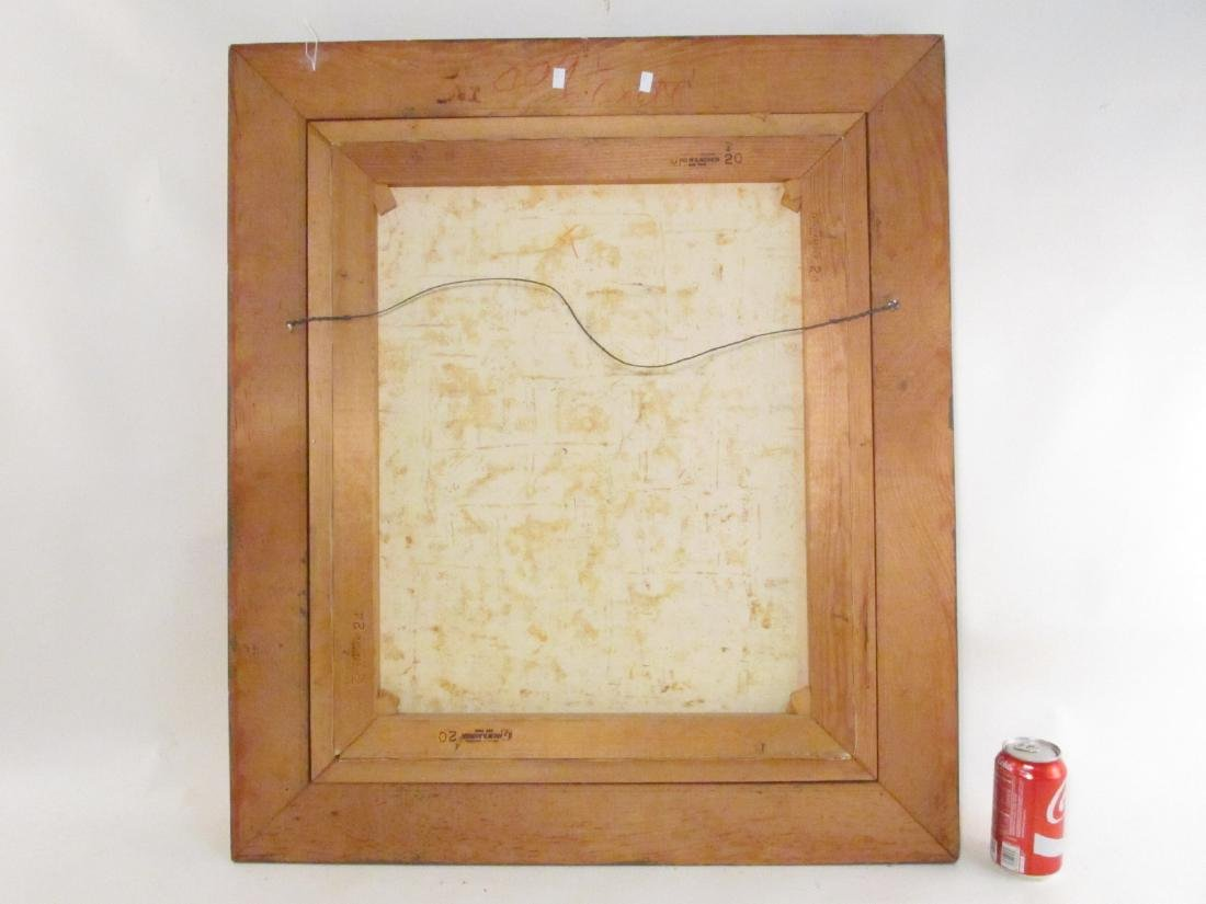 VINTAGE FRAMED ACRYLIC ON CANVAS PAINTING - 6