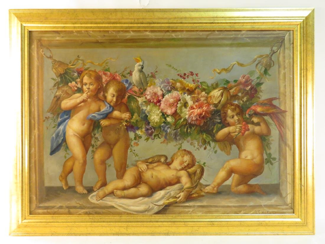 ALBERTO SPINZIO FRAMED OIL ON CANVAS PAINTING