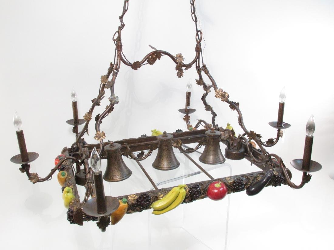 HUGE CONTEMPORARY HARVEST STYLE CHANDELIER - 2
